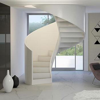 Scale per interni per esterni e soppalchi la chiocciola snc - Scale a chiocciola in cemento prefabbricate ...